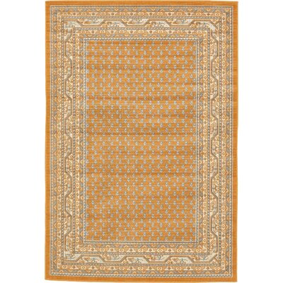 Gillam Orange Area Rug Rug Size: 4 x 6