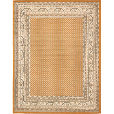 Gillam Orange Area Rug Rug Size: Rectangle 10 x 13