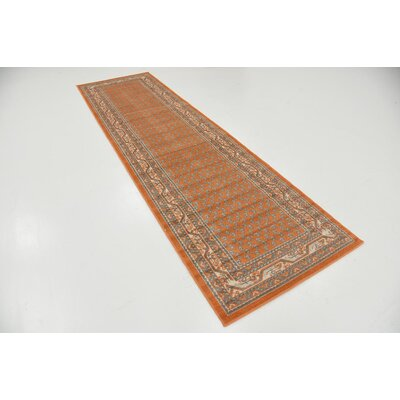 Gillam Orange Area Rug Rug Size: Runner 29 x 91