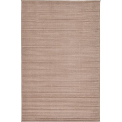 Bayswater Light Brown Area Rug Rug Size: Rectangle 5 x 8
