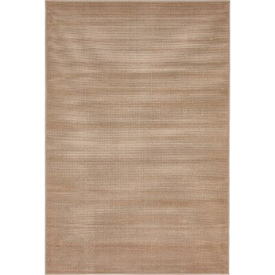 Gillam Light Brown Area Rug Rug Size: Round 5
