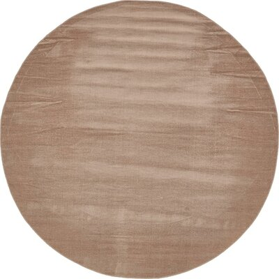 Bayswater Light Brown Area Rug Rug Size: Round 8'