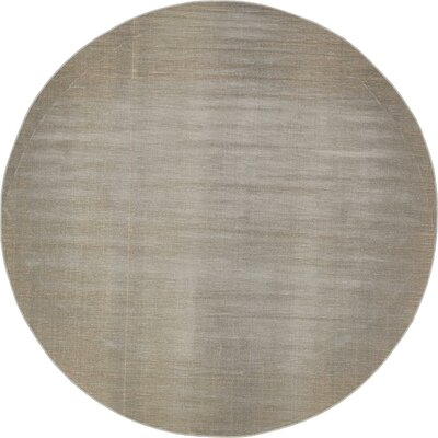 Gillam Gray Area Rug Rug Size: Round 8'