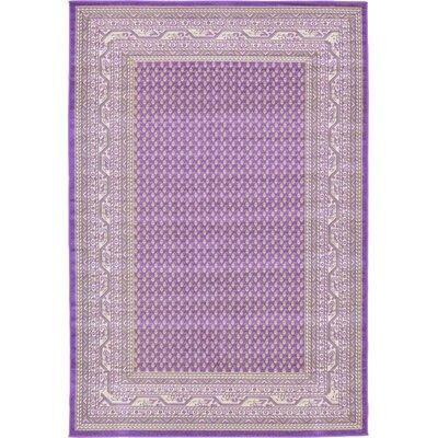 Gillam Violet Area Rug Rug Size: 6 x 9