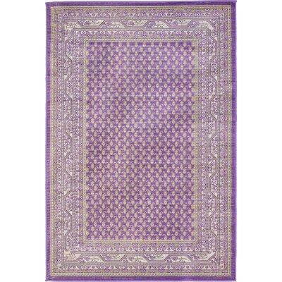 Gillam Violet Area Rug Rug Size: 4 x 6