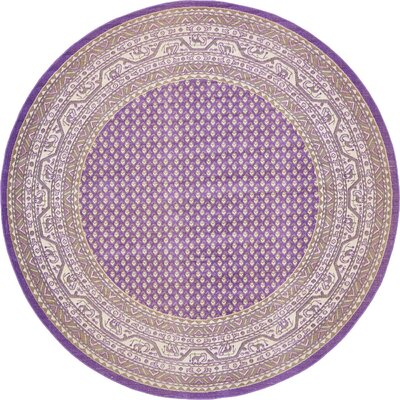 Gillam Violet Area Rug Rug Size: Round 8'