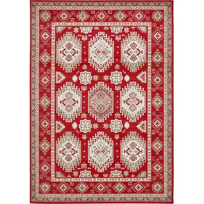 Gillam Red Area Rug Rug Size: 7' x 10'