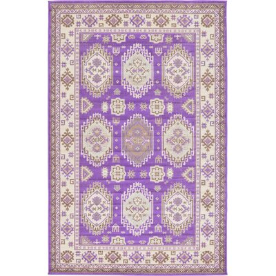 Gillam Violet Area Rug Rug Size: 5 x 8