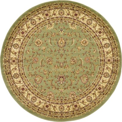 Roseland Light Green Area Rug Rug Size: Round 6