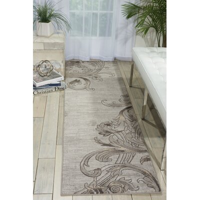 Regina Abstract Graphite Area Rug Rug Size: Runner 22 x 76