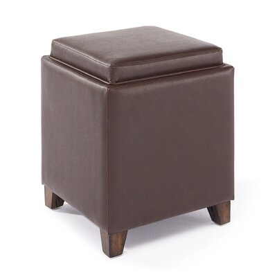Claycomb Contemporary Storage with Tray Ottoman