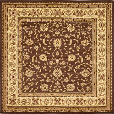 Badillo Brown Area Rug Rug Size: Round 8