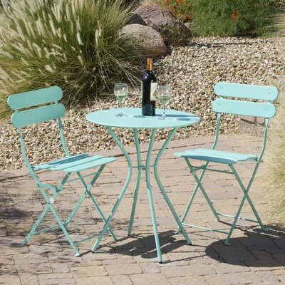 Bosch 3 Piece Bistro Set Finish: Blue