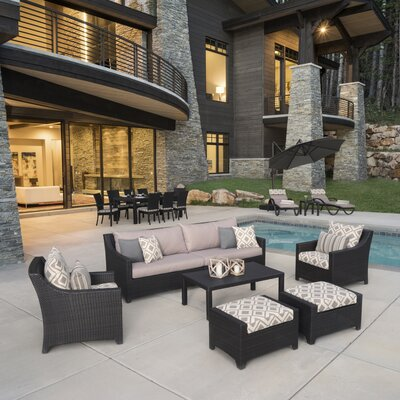 Northridge Estate Patio 20 Piece Deep Seating Group with Cushion Fabric: Wisteria Lavender