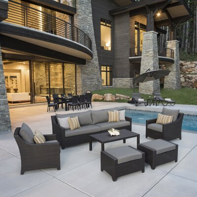 Northridge Estate Patio 20 Piece Deep Seating Group with Cushion Fabric: Charcoal Gray