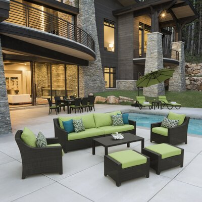 Northridge Estate Patio 20 Piece Deep Seating Group with Cushion Fabric: Gingko Green