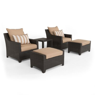 Northridge 5 Piece Deep Seating Group with Cushions Fabric: Maxim Beige