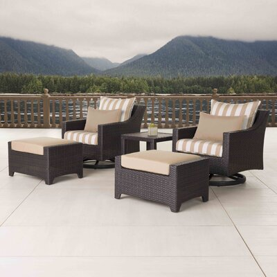 Northridge 5 Piece Deep Seating Group Fabric: Maxim Beige