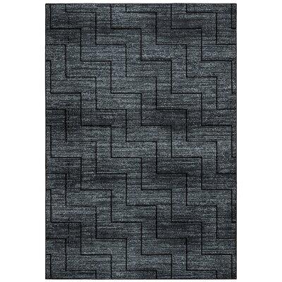 Kieran Black Area Rug Rug Size: Rectangle 710 x 1010