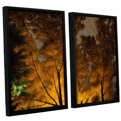 Rhapsody 2 Piece Framed Painting Print  on Canvas Set