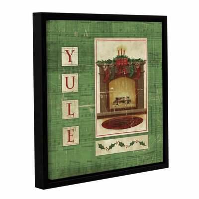 Traditional Christmas Framed Graphic Art on Wrapped Canvas
