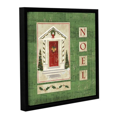 Traditional Christmas Framed Painting Print on Wrapped Canvas