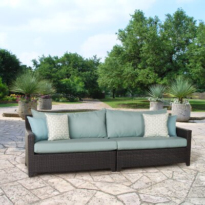 Northridge Patio 2 Piece Loveseat Fabric: Spa Blue