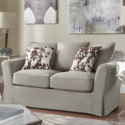Blackwater Loveseat Upholstery: Gray