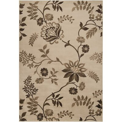 Darden Floral Rug Rug Size: Rectangle 53 x 76