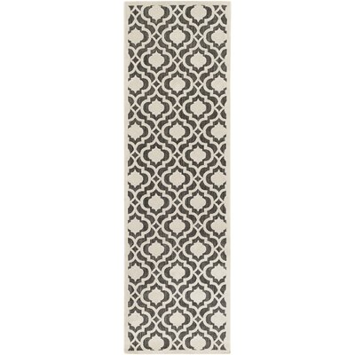 Countryman Ivory/Black Indoor/Outdoor Area Rug Rug size: Runner 26 x 710