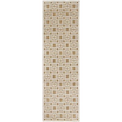 Countryman Light Gray/Tan Indoor/Outdoor Area Rug Rug size: Runner 26 x 71