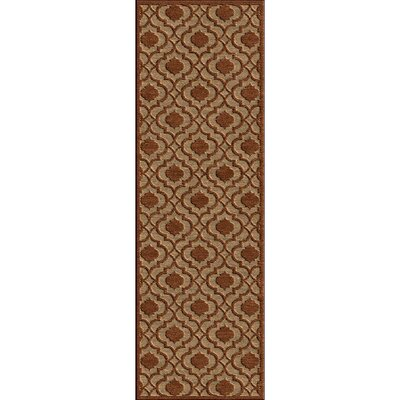 Countryman Rust/Tan Indoor/Outdoor Area Rug Rug size: 39 x 58