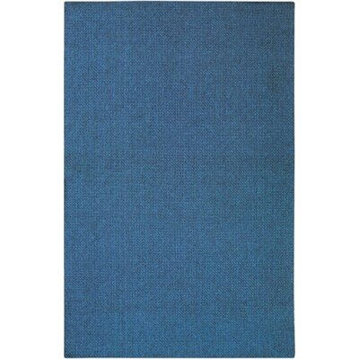 Deschamps Hand-Woven Rectangle Blue Indoor/Outdoor Area Rug Rug Size: Rectangle 53 x 78