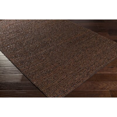 Chadwick Hand-Woven Brown/Black Area Rug Rug Size: 5 x 76