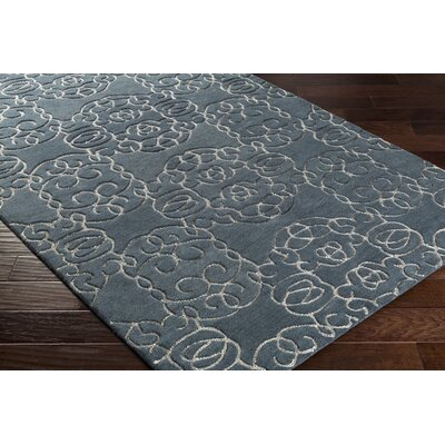 Desroches Hand-Tufted Wool Green Area Rug Rug Size: Rectangle 5 x 76