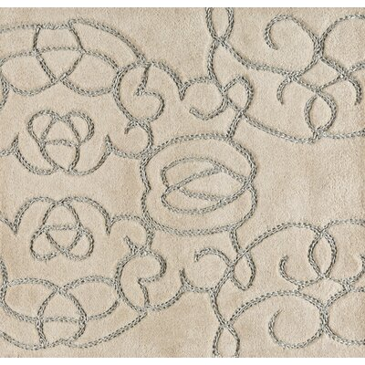 Desroches Hand-Tufted Wool Beige Area Rug Rug Size: Rectangle 8' x 10'