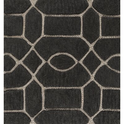 Desroches Hand-Tufted Brown/Beige Area Rug Rug Size: Rectangle 2' x 3'