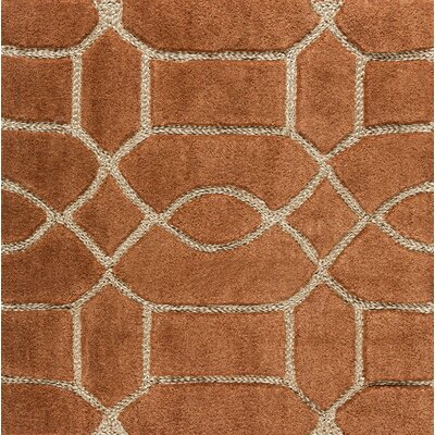 Desroches Hand-Tufted Orange/Beige Area Rug Rug Size: Rectangle 8 x 10
