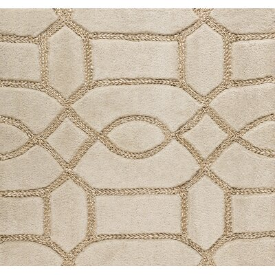 Desroches Hand-Tufted Beige Area Rug Rug Size: Rectangle 5 x 76