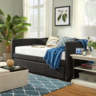 Claflin Daybed and Trundle Color: Dark Gray