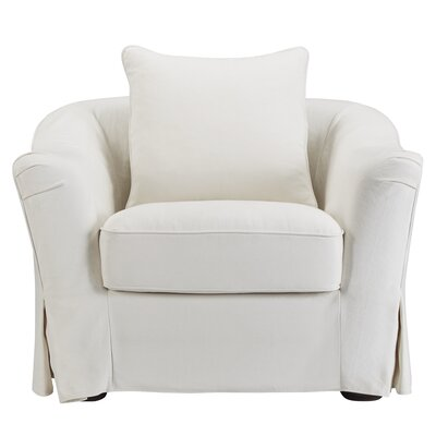 Blackwater Barrel Chair Upholstery: Soft White