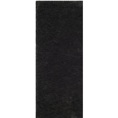 Bacall Hand-Tufted Black Area Rug Rug Size: Runner 23 x 8