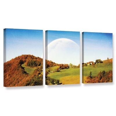 Rapsody 3 Piece Photographic Print on Wrapped Canvas Set
