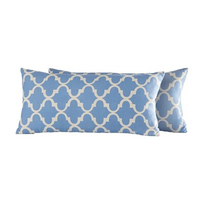 Wilmer Kidney Linen Lumbar Pillow Color: Heritage Blue
