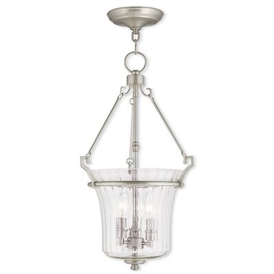 Ambrose 3-Light Foyer Pendant Finish: Brushed Nickel