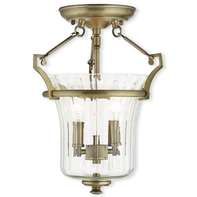 Bolindale 2-Light Semi-Flush Mount Finish: Brushed Nickel
