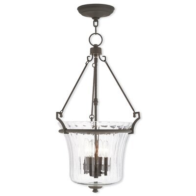 Bolindale 4-Light Foyer Pendant Finish: Brushed Nickel