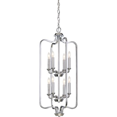 Niagara 8-Light Foyer Pendant Finish: Polished Nickel