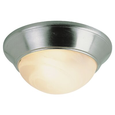 Geraldine 1-Light Flush Mount Finish: Brushed Nickel, Size: 6.5 H x 14 W x 14 D