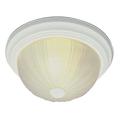 Abigale 1-Light Semi Flush Mount Finish: Brushed Nickel, Size: 11 H x 15 W x 15 D